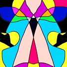Oh My Aching Head Stain Glass Abstract (To Tammy, who like me keeps a migraine.) by Charldia