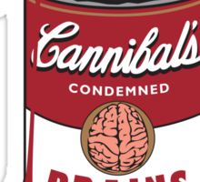 Canned Zombie Sticker