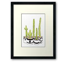 Cacti Love Framed Print