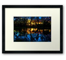 Beddington Park Pond Framed Print