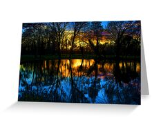 Beddington Park Pond Greeting Card