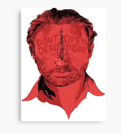 Rick Grimes Dont Open Dead inside Canvas Print