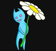 Blue Critter With Flower Zipped Hoodie