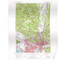 USGS Topo Map Washington Kelso 241752 1953 24000 Poster