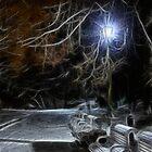 Night In The Park by Oleksii Rybakov