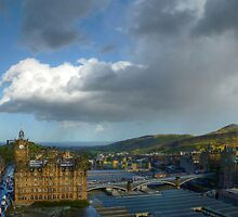 Edinburgh - Sun And Rain by HJIrvine