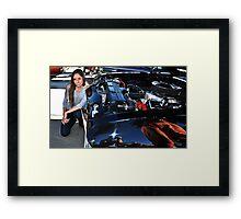 """ Mercedes & Muscle "" Framed Print"