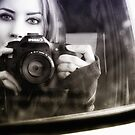 On the Road (Self Portrait in Rearview Mirror) by EchoNorth