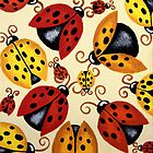 'Lady Bugs'   by Lisa Frances Judd ~ QuirkyHappyArt