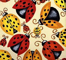 'Lady Bugs'   by Lisa Frances Judd~QuirkyHappyArt