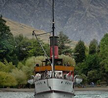 The TSS.Earnslaw Heading In. by Larry Lingard/Davis