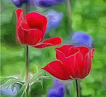 Two Sisters in Bloom by Patricia L. Walker