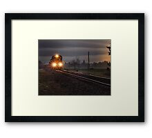 Early morning freight train Framed Print