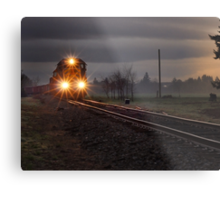 Early morning freight train Metal Print