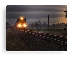 Early morning freight train Canvas Print