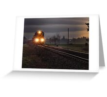 Early morning freight train Greeting Card