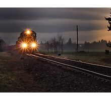 Early morning freight train Photographic Print