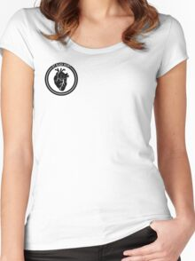 Jet Black Heart Women's Fitted Scoop T-Shirt