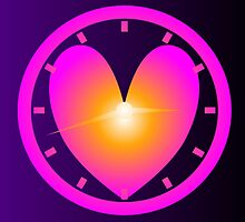Heart Shape Clock by Lynn Sherer