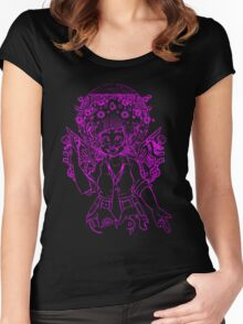 Deity Providence (linework) Women's Fitted Scoop T-Shirt