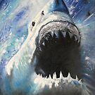 JAWS-OIL PAINTING by Wayne Dowsent