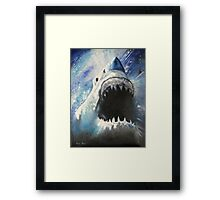 JAWS-OIL PAINTING Framed Print