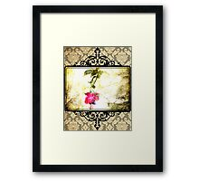 Damask Flower Print (Psalm 23) Framed Print