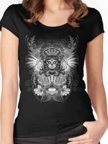 LADY MUERTE Women's Fitted Scoop T-Shirt