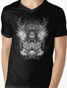 LADY MUERTE Mens V-Neck T-Shirt