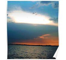 Sunset Cruise in Destin, FL (Naval Base Skyline) Poster