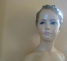Plaster Sculpture of Young Girl by Lisa Diamond