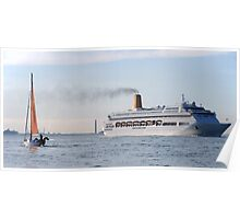 Cruise Ship near Southampton Poster