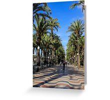 Alicante, Explanada de España Greeting Card