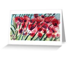 Poppies In Bloom Greeting Card