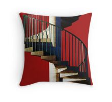 Helter Skelter Steps Throw Pillow