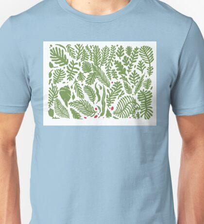 leaves w red by Michael Fikaris  Unisex T-Shirt