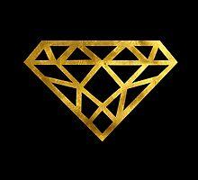 Diamond Faux Fold Foil with Black Background by mystylerepublic
