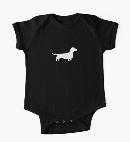 Dachshund Silhouette(s) One Piece - Short Sleeve