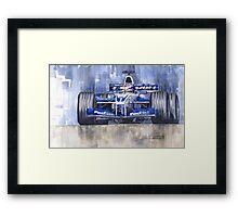 Williams BMW FW24 2002 Juan Pablo Montoya Framed Print