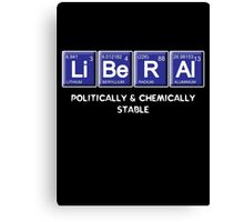 Liberal Chemistry Canvas Print