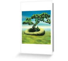 on a cool green dawn Greeting Card