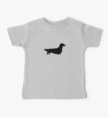Long Haired Dachshund Silhouette Baby Tee