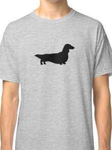 Long Haired Dachshund Silhouette Classic T-Shirt