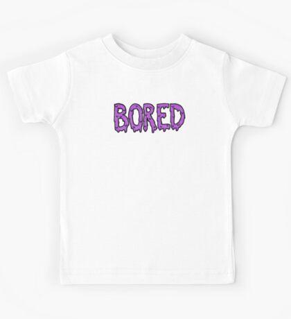 BORED - purple Kids Tee