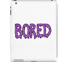 BORED - purple iPad Case/Skin