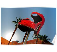 Red Hot Shoe Poster