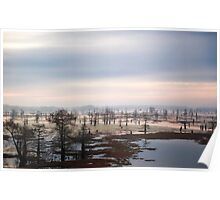 View from Atchafalaya Basin Bridge Poster