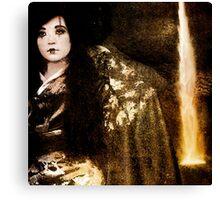 Geisha at the Waterfall Canvas Print