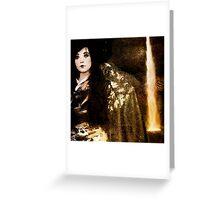 Geisha at the Waterfall Greeting Card