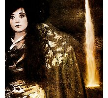 Geisha at the Waterfall Photographic Print